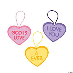 Faith Two-Sided Conversation Heart Ornament Craft Kit