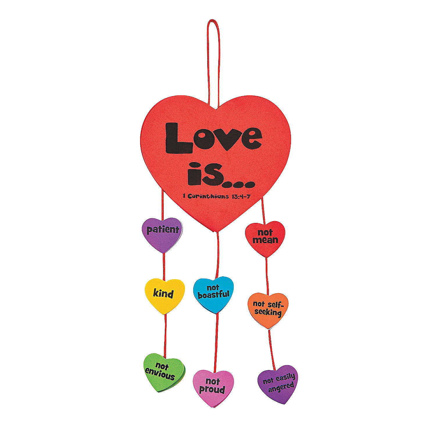 Faith love is mobile novelty crafts crafts for kids for Inspirational valentine crafts