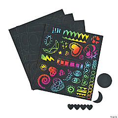Self-Adhesive Magic Color Scratch Stickers