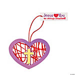 No Strings Attached Wrapped Heart Ornament Craft Kit
