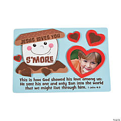 Jesus Loves You S'more Picture Frame Magnet Craft Kit