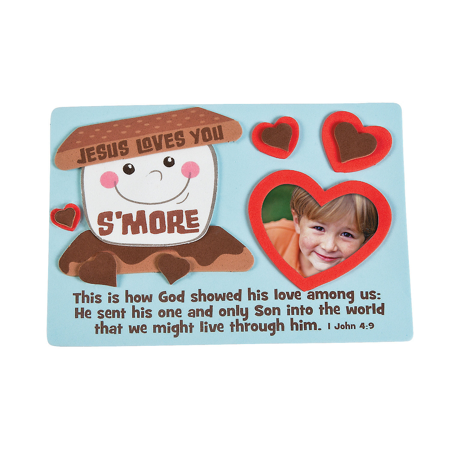 Jesus Loves You Sand More Picture Frame Magnet Craft Kit A2 13673938 on 25 Earth Day Activities For Kids