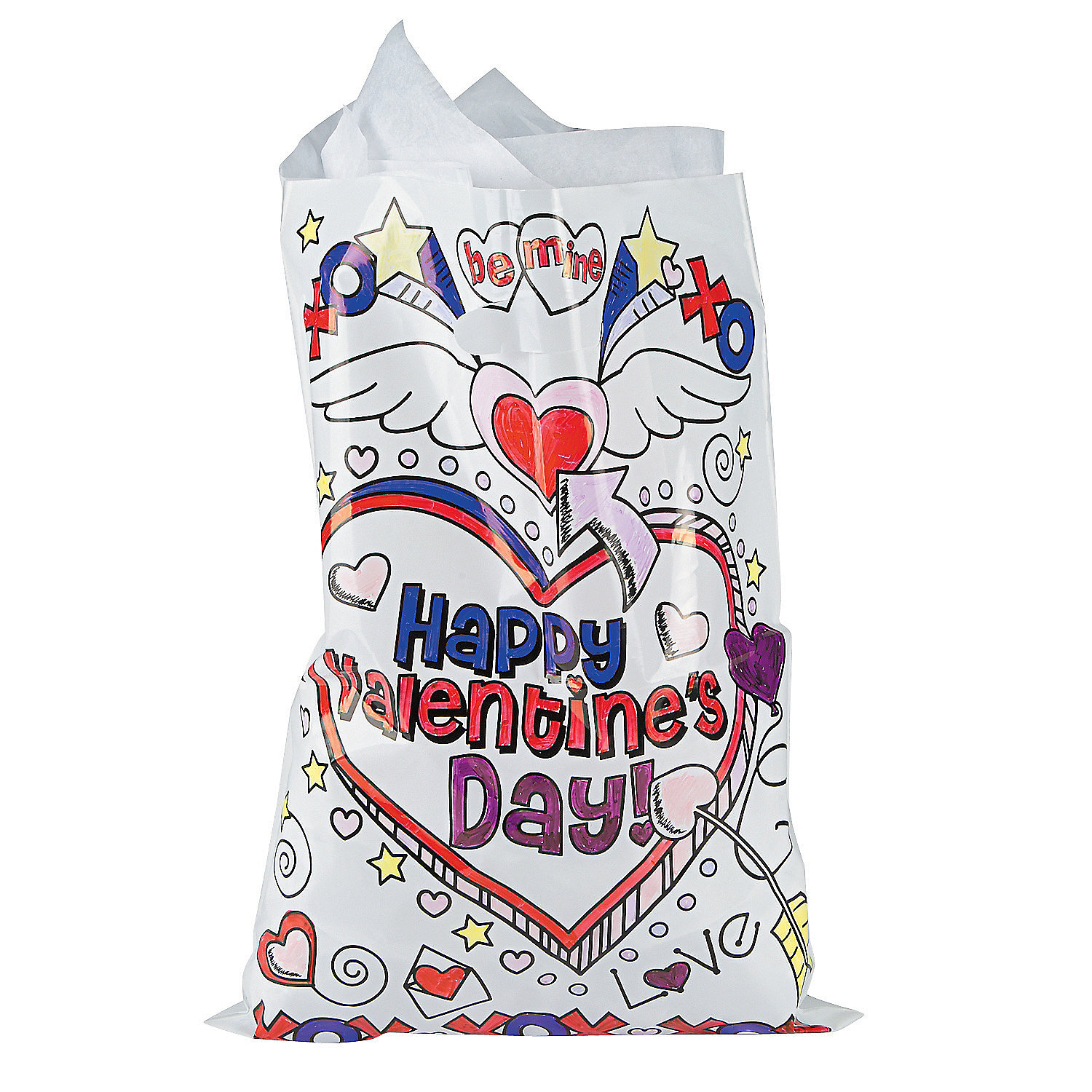 Color Your Own Valentine Bags, Coloring Crafts, Crafts for ... - photo#8