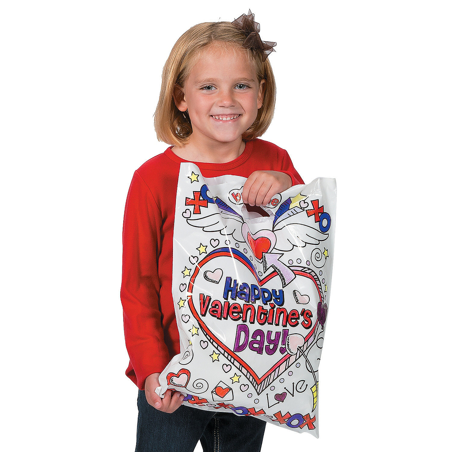 Color Your Own Valentine Bags, Coloring Crafts, Crafts for ... - photo#23