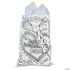 Color Your Own Valentine Bags