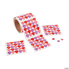 Mini Heart Big Roll Stickers