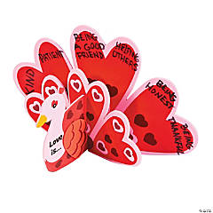 3D Love Peacock Heart Craft Kit