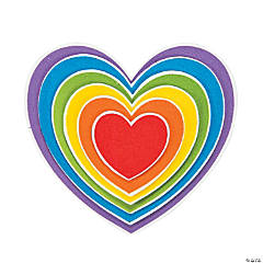 Rainbow Heart Magnet Craft Kit