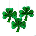 St. Patrick's Day Shamrock Tissue Paper Decorations