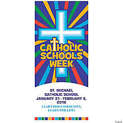 Personalized Catholic Schools Week Door Banner