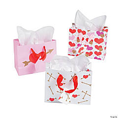 Pink & Gold Valentine Gift Bags