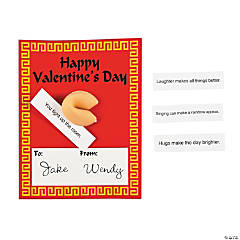 Valentine Cards with Fortune Cookie Erasers