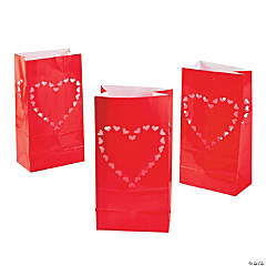 Valentine's Day Luminary Bags