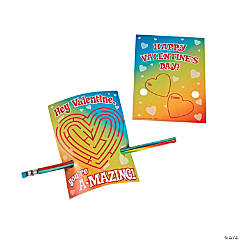 You A-Maze Me Valentine Cards with Pencils