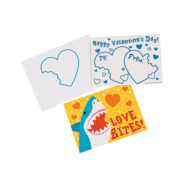 valentines day card shark - Shark Valentine Cards Oriental Trading