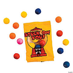 Valentine Gumball Candy Fun Packs