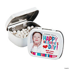 Custom Photo Valentine Mint Tins