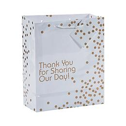 Medium Gold Wedding Dot Gift Bags