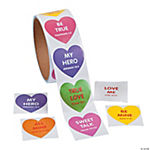 Faith Conversation Heart Roll of Stickers