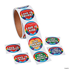 We Know What Love Is Roll of Stickers