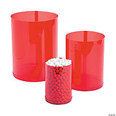 Red Candy Buffet Cylinders