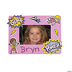 Superhero Girl Magnetic Picture Frame Craft Kit