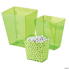 Plastic Lime Candy Buffet Buckets