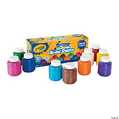 10-Color Crayola® Classic Colors Kid's Washable Paints