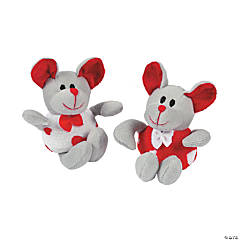Plush Mice with Heart Print