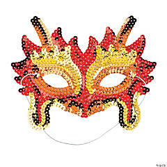 Sequin Chinese Dragon Masks