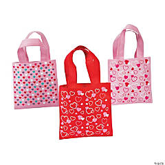Mini Heart Print Tote Assortment