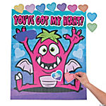 Pin the Heart on the Monster Valentine Game