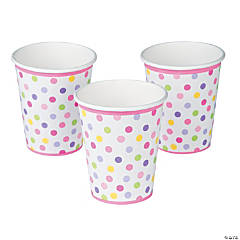 Baby Girl Stork Cups