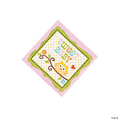 Happi Tree Sweet Baby Girl Beverage Napkins