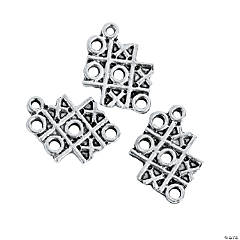 Silvertone XOXO Charms - 13mm-19mm