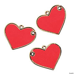 Big Red Heart Pendants - 44mm