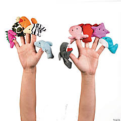 Plush Sea Life Finger Puppets