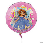 Sofia the First Birthday Mylar Balloon