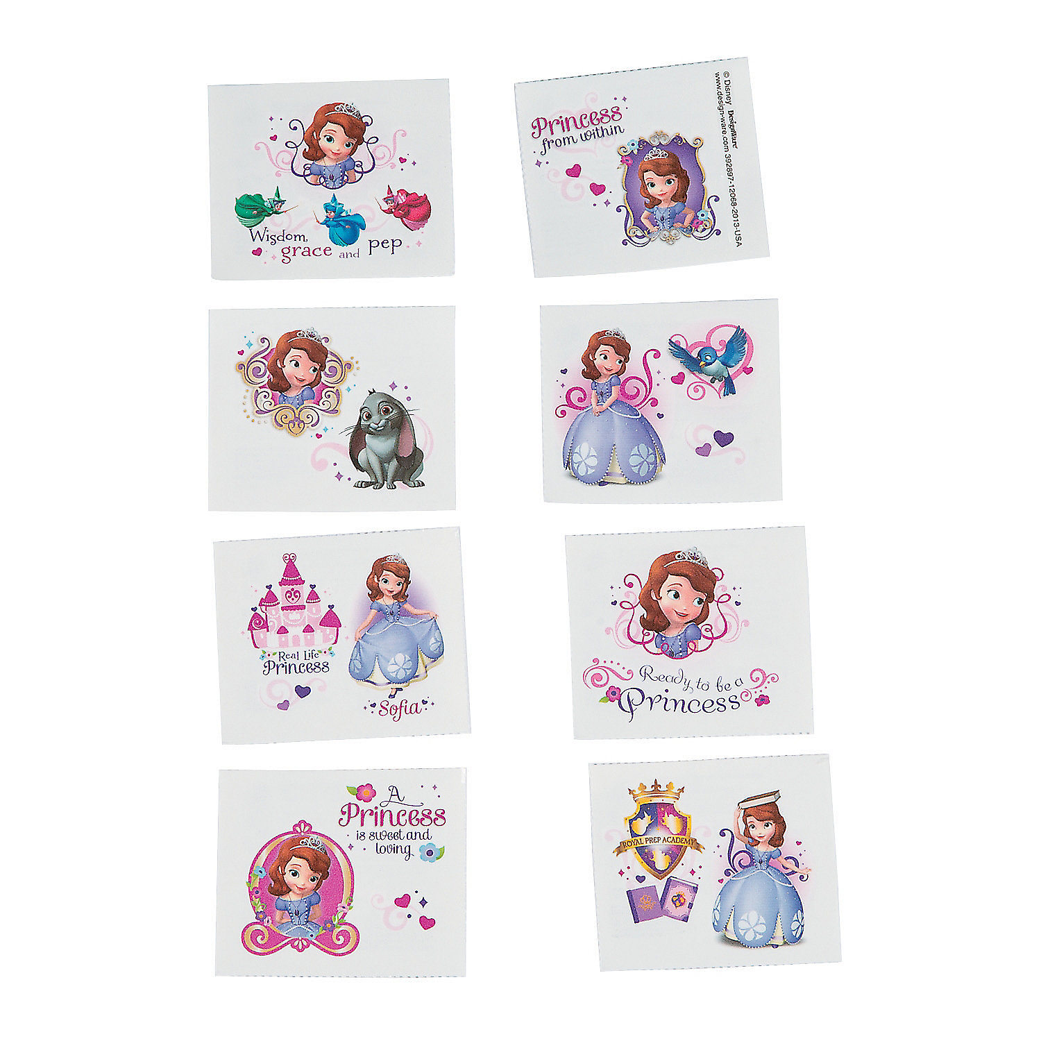 Sofia the first tattoos oriental trading for Sofia the first tattoos
