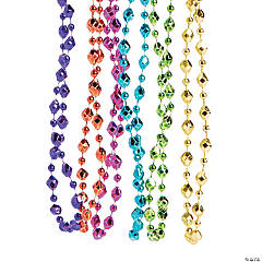 Small Diamond-Shaped Mardi Gras Beads