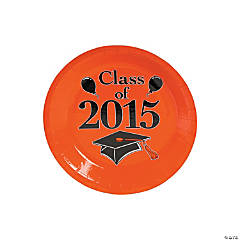 Class of 2015 Orange Dessert Plates