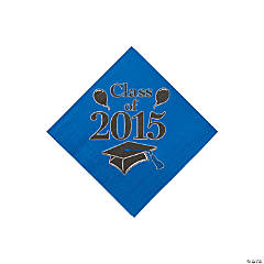Class of 2015 Blue Beverage Napkins