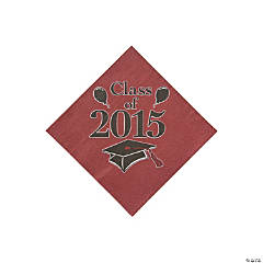 Class of 2015 Burgandy Beverage Napkins