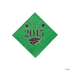 Class of 2015 Green Beverage Napkins