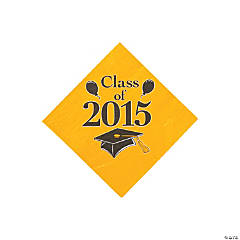 Class of 2015 Yellow Beverage Napkins