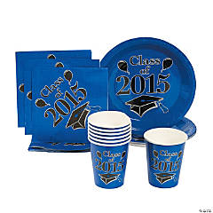 Class of 2015 Blue Tableware