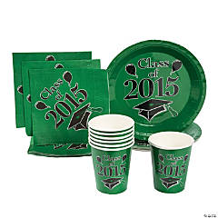 Class of 2015 Green Tableware
