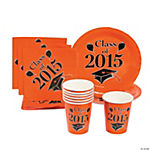 Class of 2015 Orange Tableware