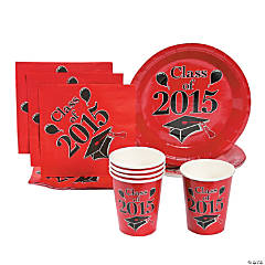 Class of 2015 Red Tableware