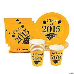 Class of 2015 Yellow Tableware